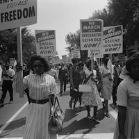 Warren K. Leffler, photographer. Participants in the March on Washington for Jobs and Freedom, August 28, 1963. U.S. News & World Report Magazine Photograph Collection, Prints and Photographs Division, Library of Congress.