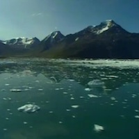 Image of melting Arctic glaciers from After the Warming