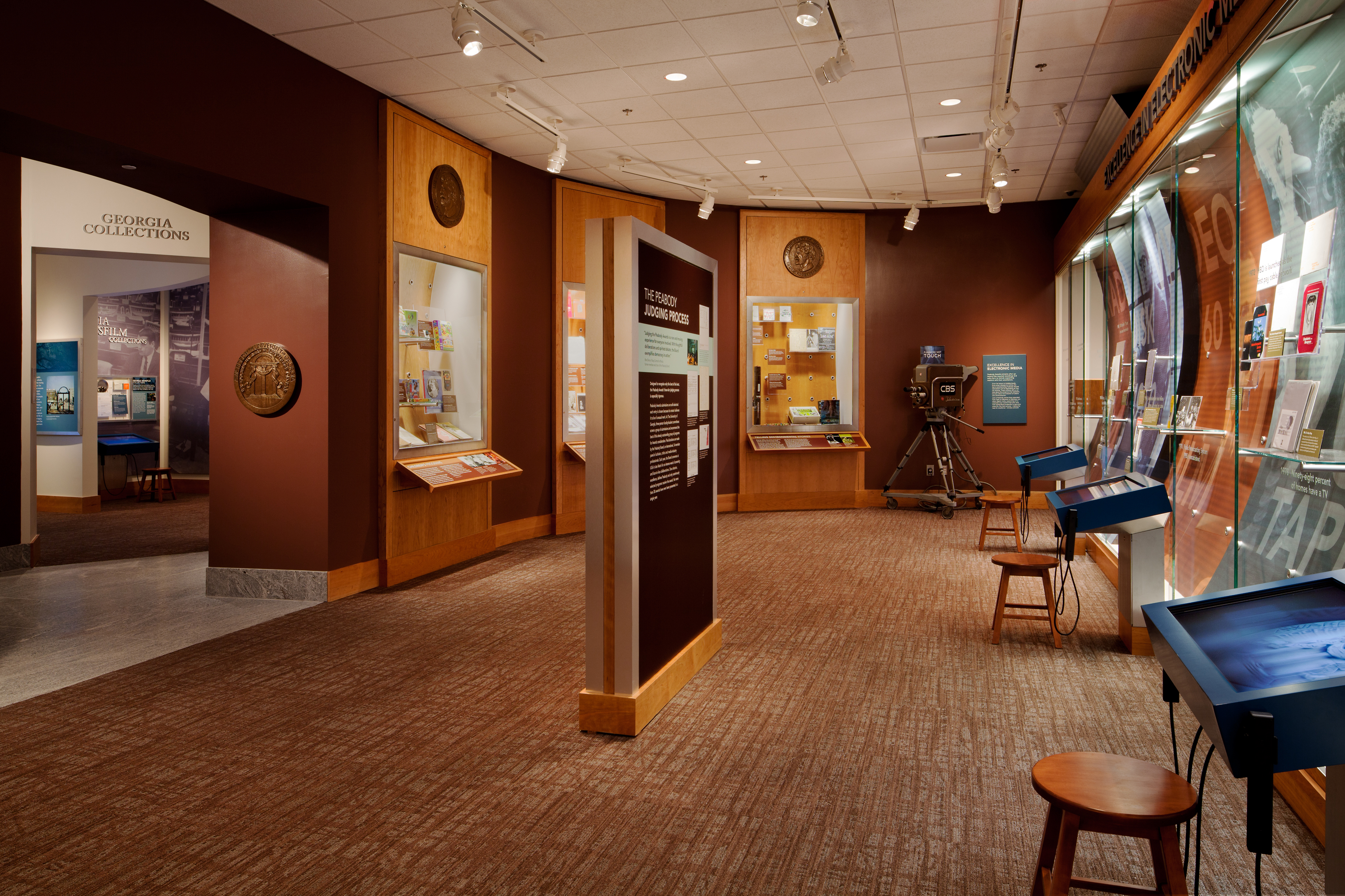 Peabody Awards Gallery at the Hargrett Rare Book and Manuscript Library, University of Georgia Libraries.