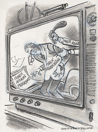 'Herbert Block. Violence on Television. Prints and Photographs Division, Library of Congress. LC-DIG-hlb-08205. A 1973 Herblock Cartoon, © The Herb Block Foundation.