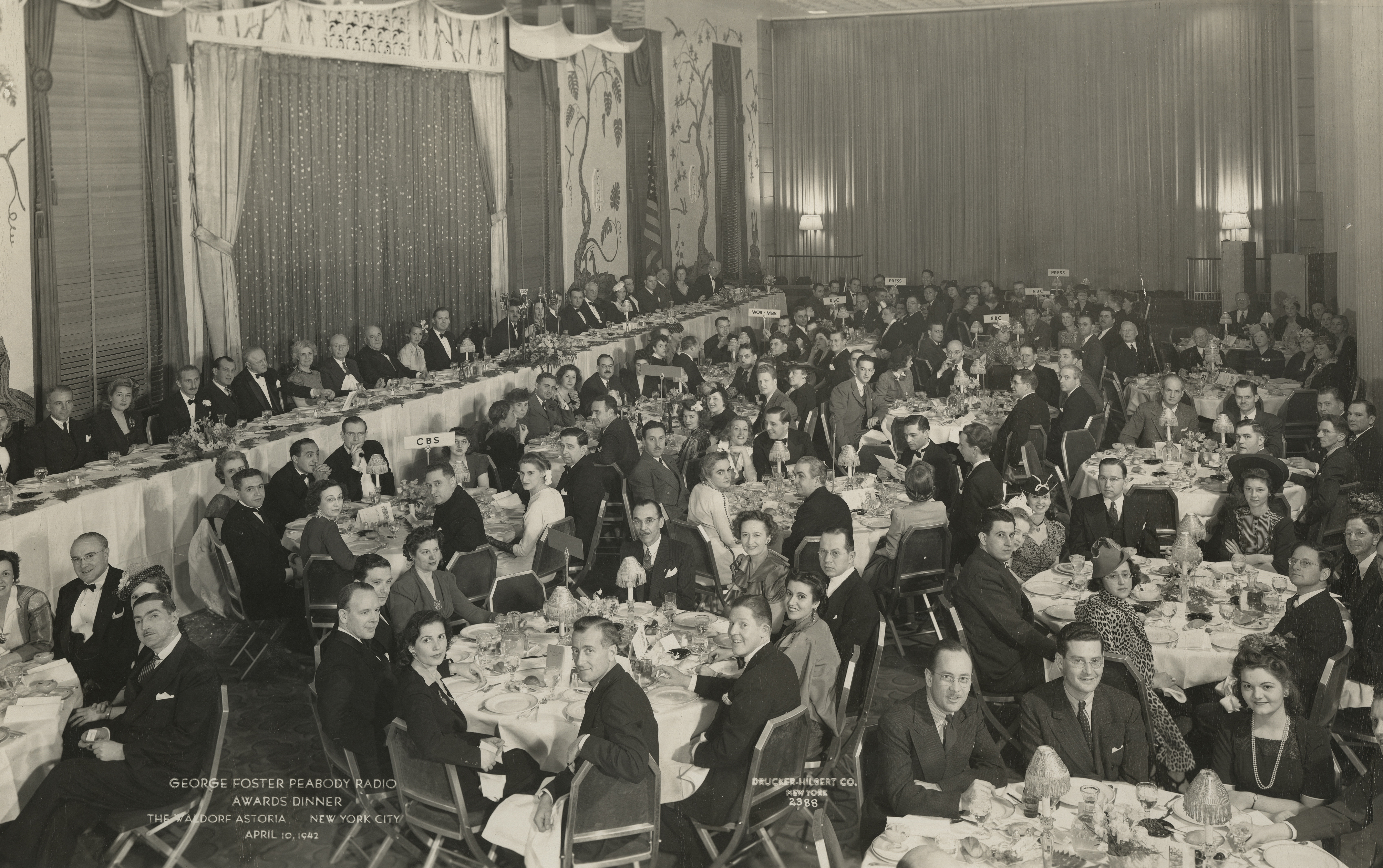 George Foster Peabody Radio Awards Dinner, April 10, 1942, George Foster Peabody Awards records, ms3000, Hargrett Rare Book and Manuscript Library, University of Georgia Libraries.