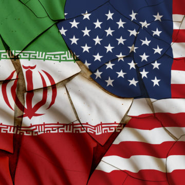 Iran and American flag