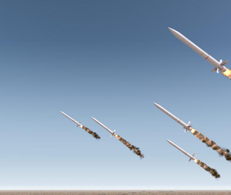 ballistic missiles launching