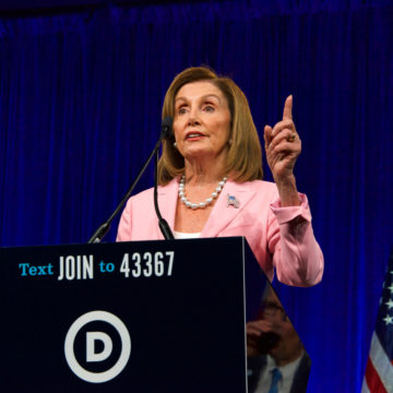 Speaker of the House, Nancy Pelosi, speaking at the Democratic National Convention Summer Meeting in San Francisco, California