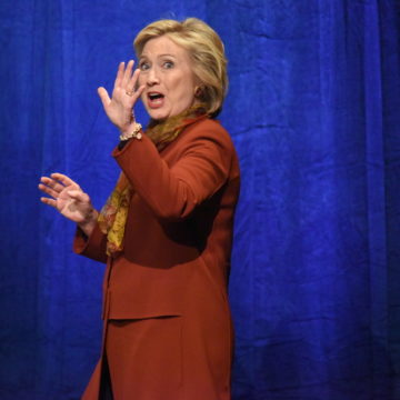 NEW YORK CITY - FEBRUARY 16 2016: Democratic presidential candidate Hillary Clinton appeared at Shomburg Center in Harlem to outline her vision for America's future. - Image