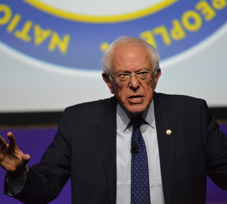 Detroit, Michigan / United States - July 24 2019: Democratic Presidential Candidate Sen. Bernie Sanders takes the stage at the 110th NAACP convention's Presidential Candidates Forum in Detroit. - Image