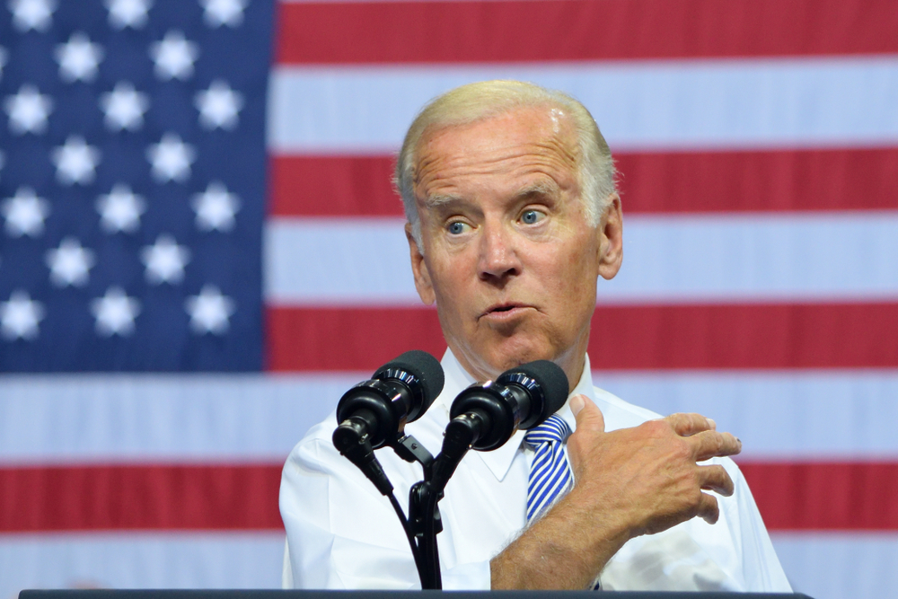 SCRANTON, PA - AUGUST 15, 2016: Vice President Joe Biden delivers a campaign rally speech for Secretary Hillary Clinton. - Image