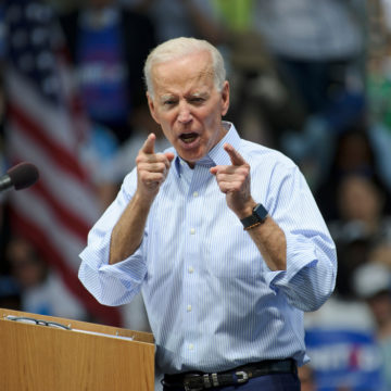 PHILADELPHIA - MAY 18, 2019: Former vice-president Joe Biden formally launches his 2020 presidential campaign during a rally May 18, 2019, at Eakins Oval in Philadelphia.