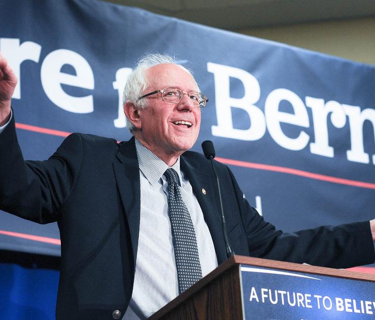 U.S. Senator Bernie Sanders speaks in Bedford, New Hampshire, on January 22, 2016.
