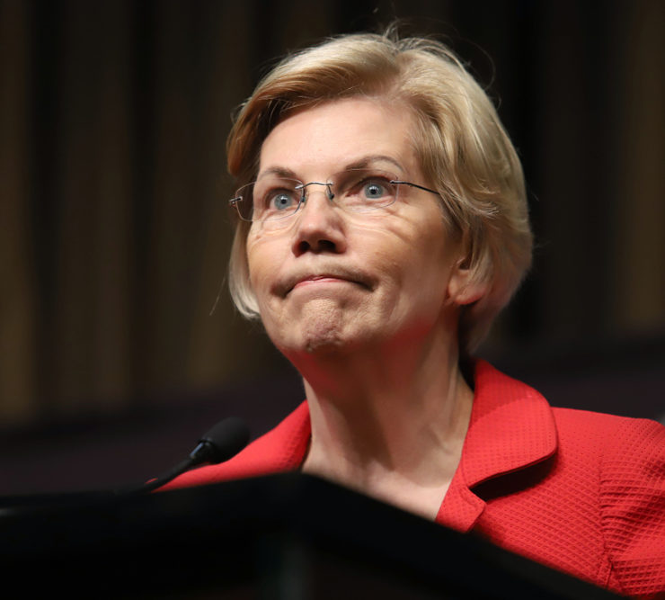 NEW YORK - APRIL 5, 2019: Democratic presidential candidate Elizabeth Warren speaks during the National Action Network Convention on April 5, 2019, in New York.