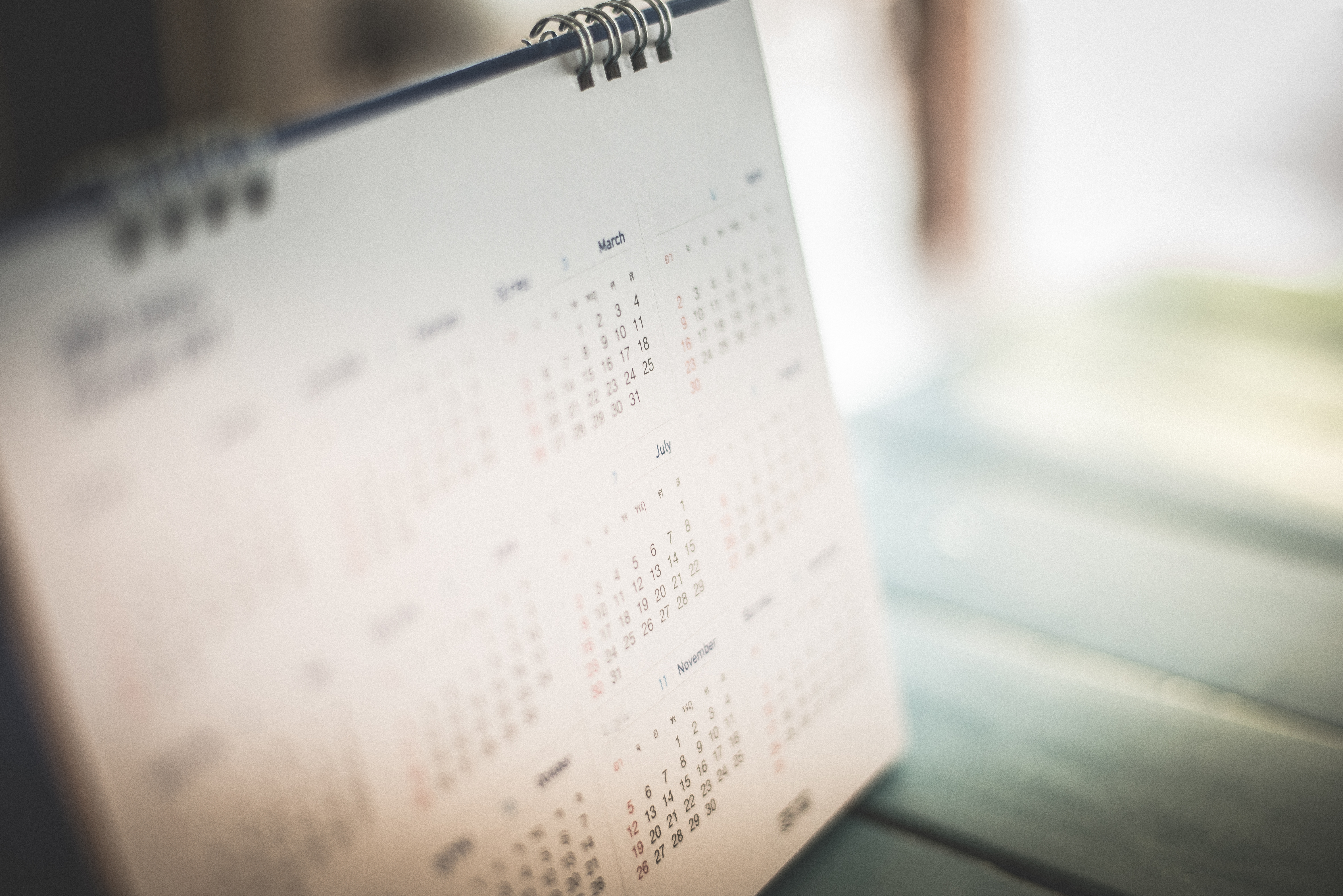 Which Months of the Calendar Have Five Weeks?