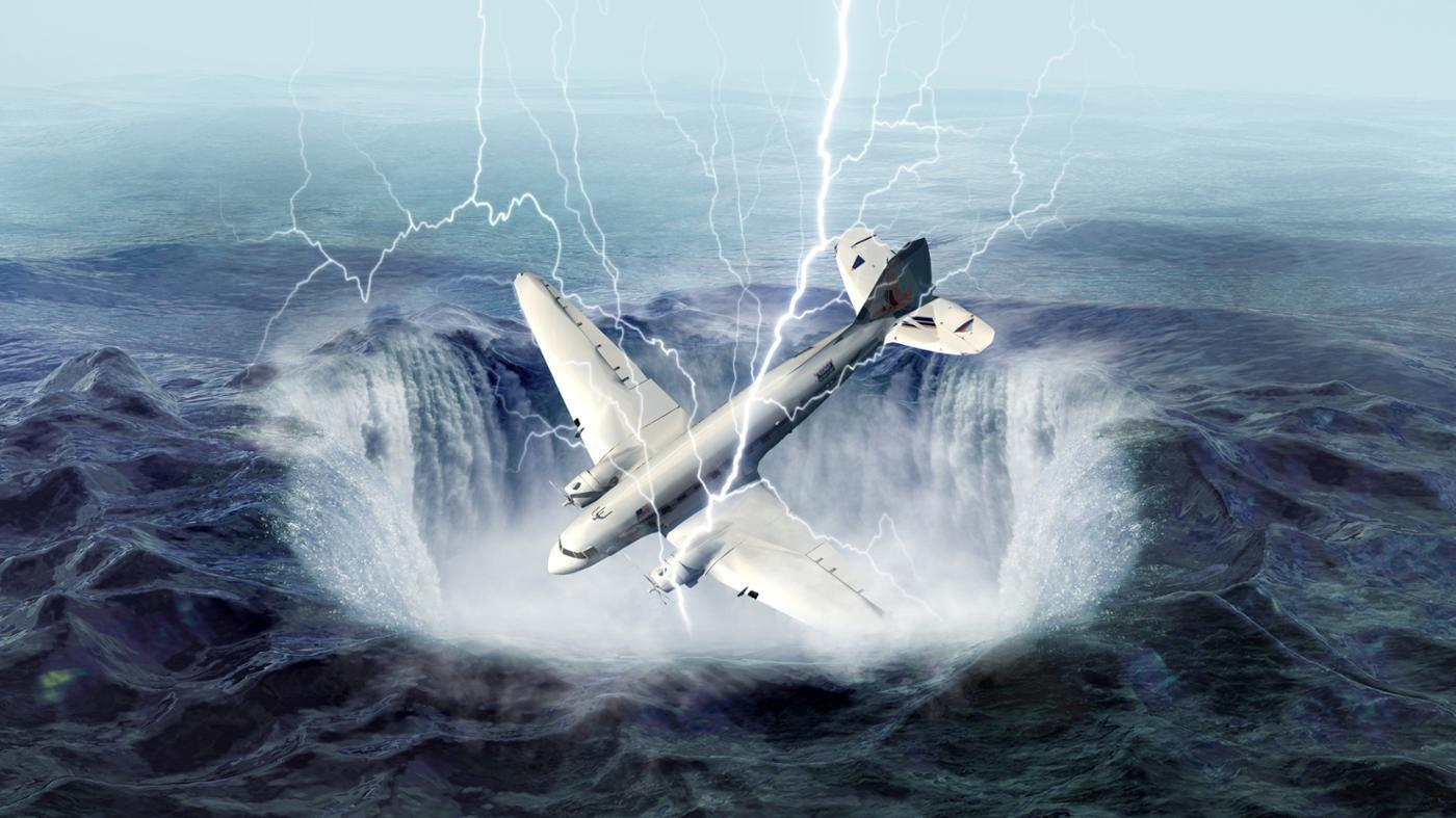 Do Flights Avoid the Bermuda Triangle?