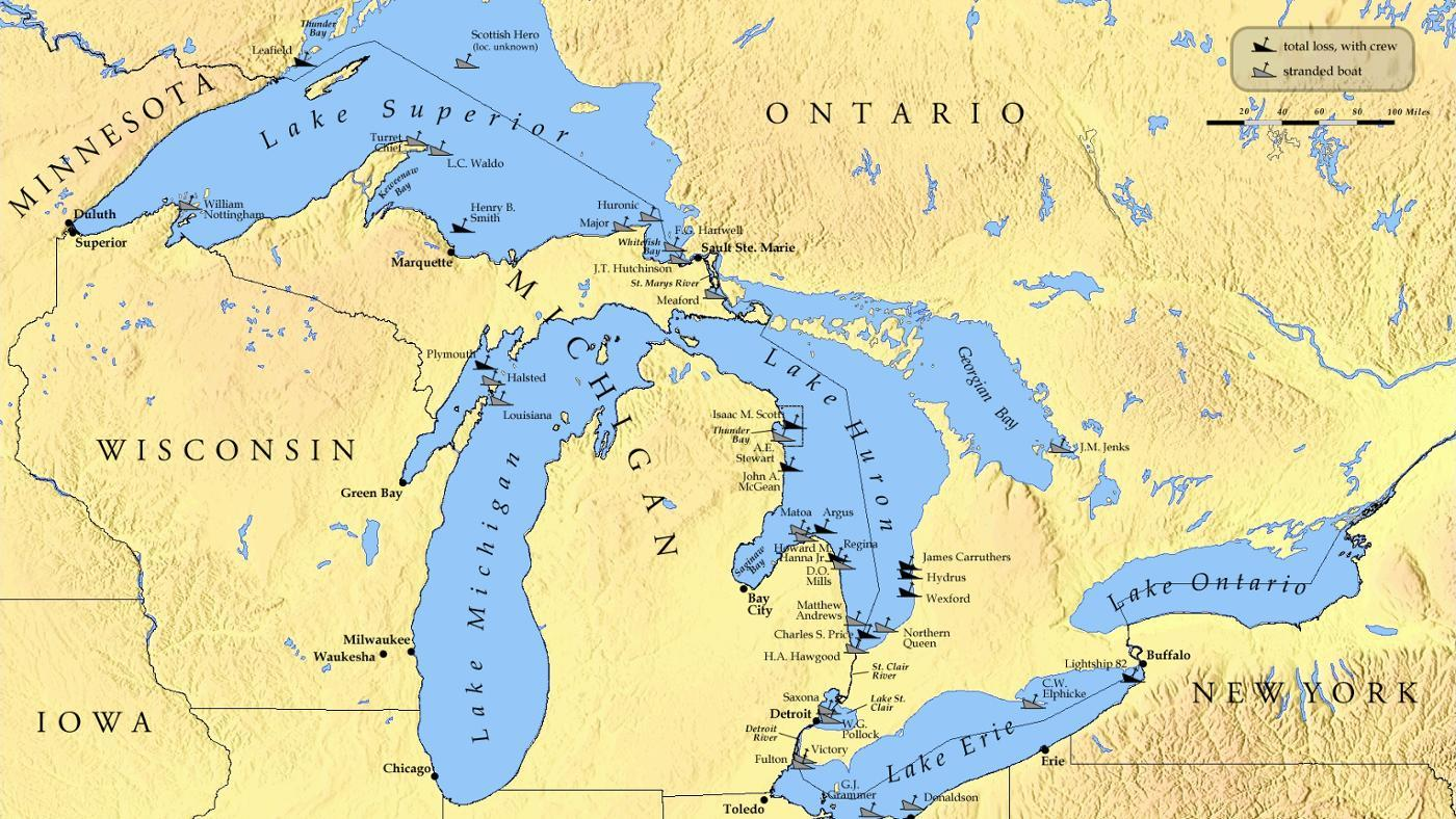 Which States Border the Great Lakes?