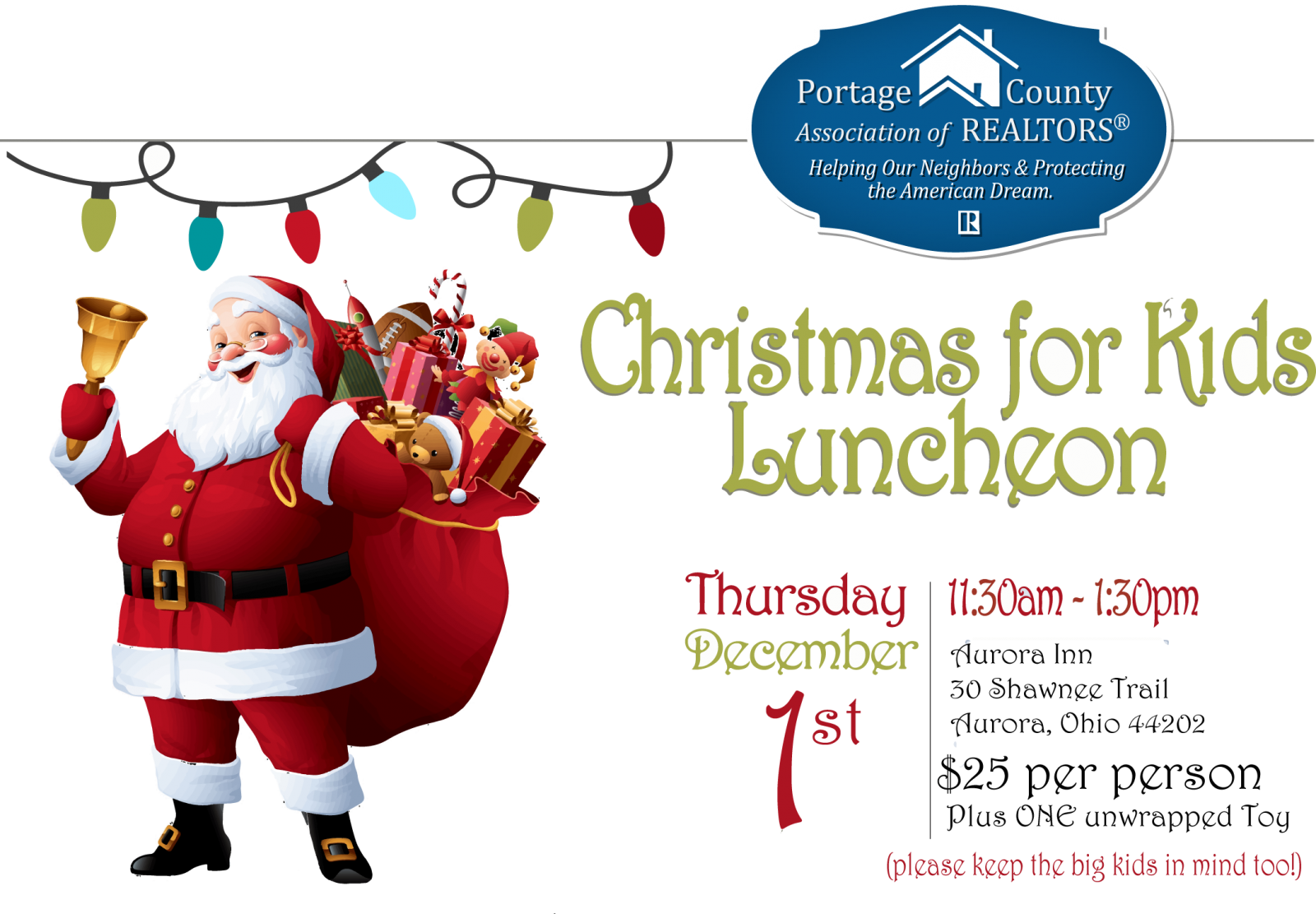 Christmas For Kids Portage County Association Of Realtors Powered By Amo