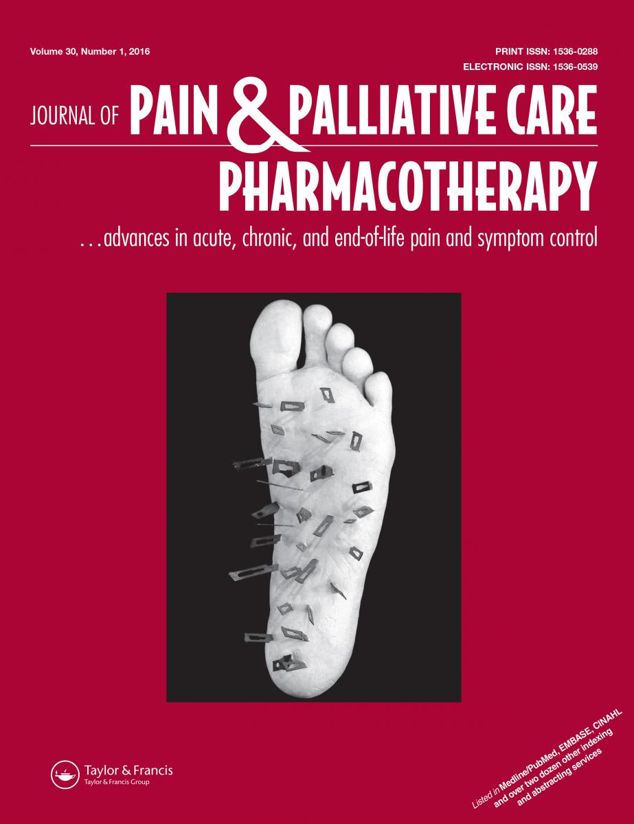 Pain Management, palliative care, and hospice pharmacists