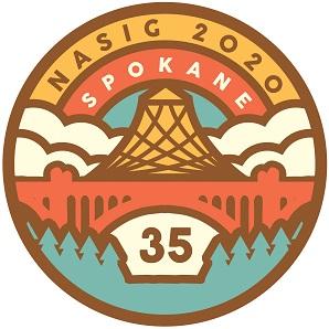 NASIG 2020 Spokane above clouds, bridge, and pavilion. 35 below bridge.
