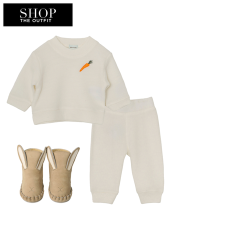 Shop the look for Donsje Amsterdam Bunny Bootie (0-6 m)