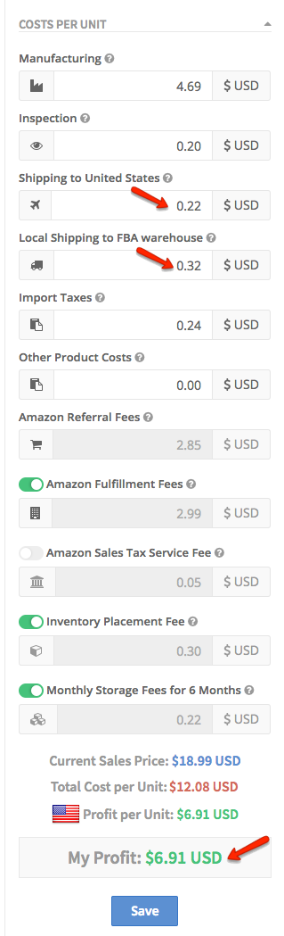 AMZPing Shipping costs affect profit calculator amazon fba