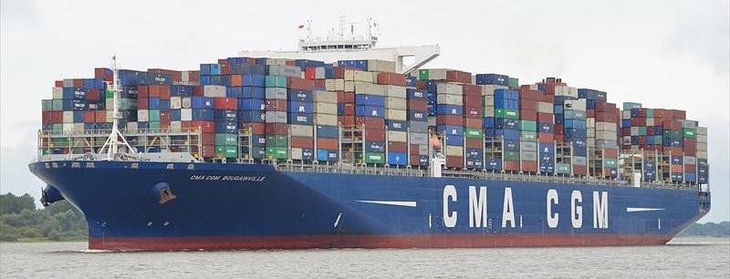 CMA CGM Container Cargo Ship Sea Ocean Freight