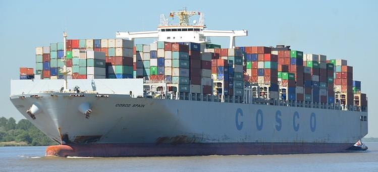 Cosco Cargo Ship Sea Ocean Container Freight