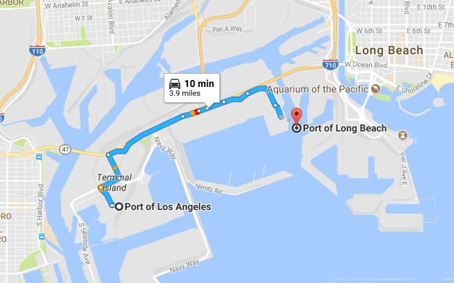 USA Port of Los Angeles (USLAX) and Port of Long Beach (USLGB)