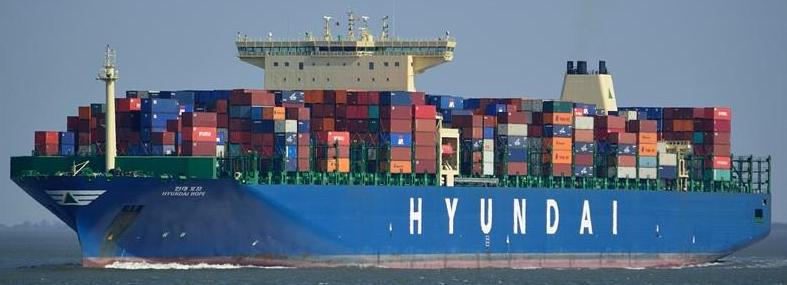 Hyundai Cargo Ship Sea Ocean Container Freight