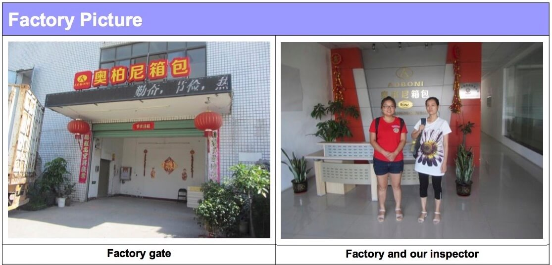 Inspection Report Picture of Factory in China
