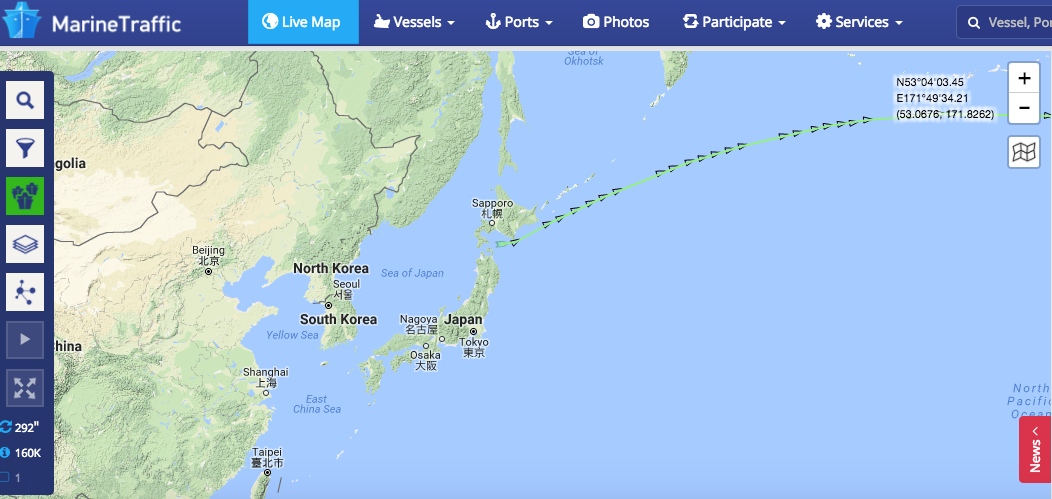 Marine Traffic Without Satellite No Movement Screenshot
