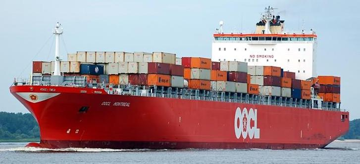 OOCL Cargo Ship Sea Ocean Container Freight