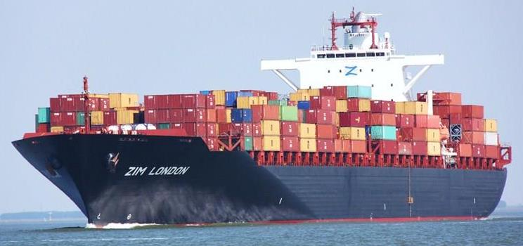 Zim Cargo Ship Sea Ocean Container Freight