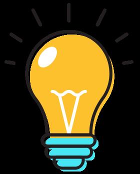 Lightbulb Icon Yellow