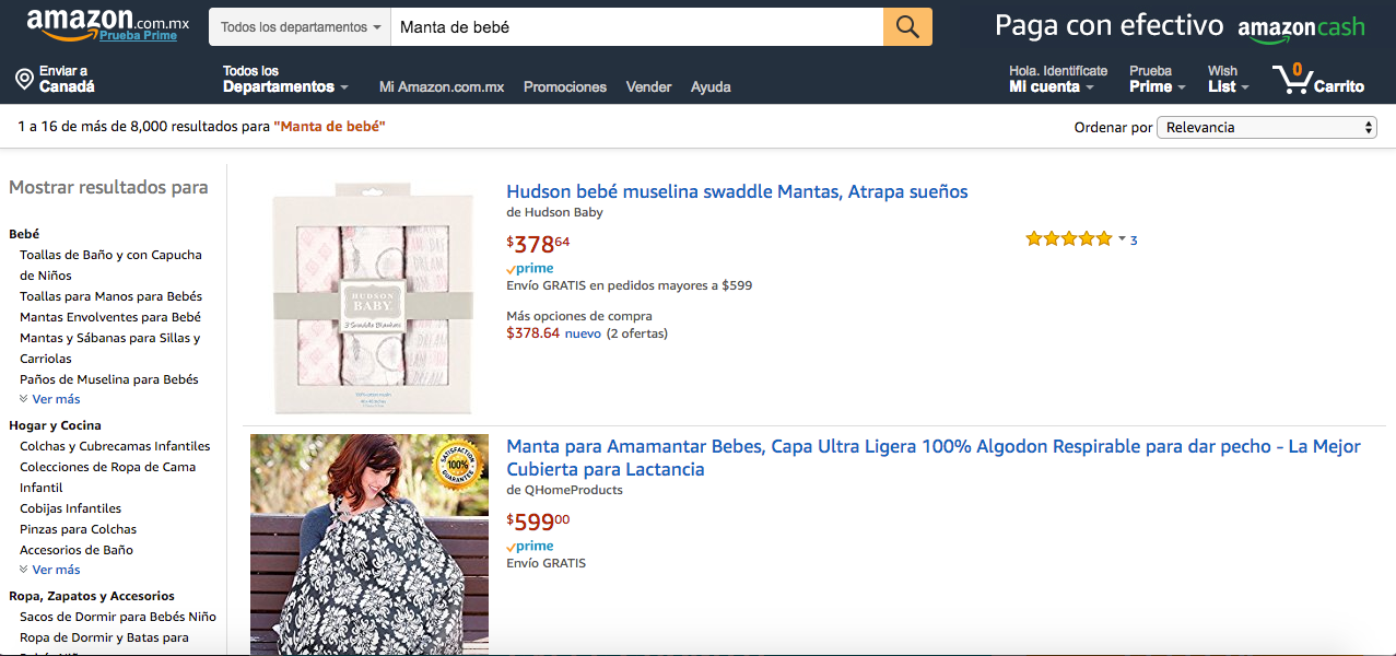 Amazon Mexico No Sponsored Ads
