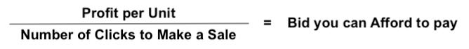 Bid Affordability Formula how much should i bid on amazon ppc