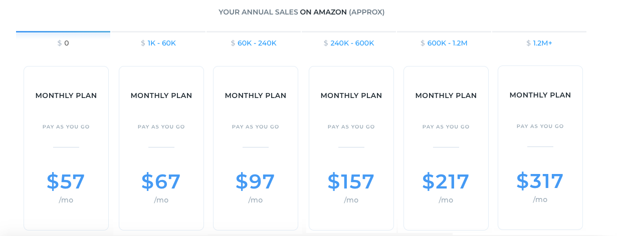 Sellics Pricing Plans