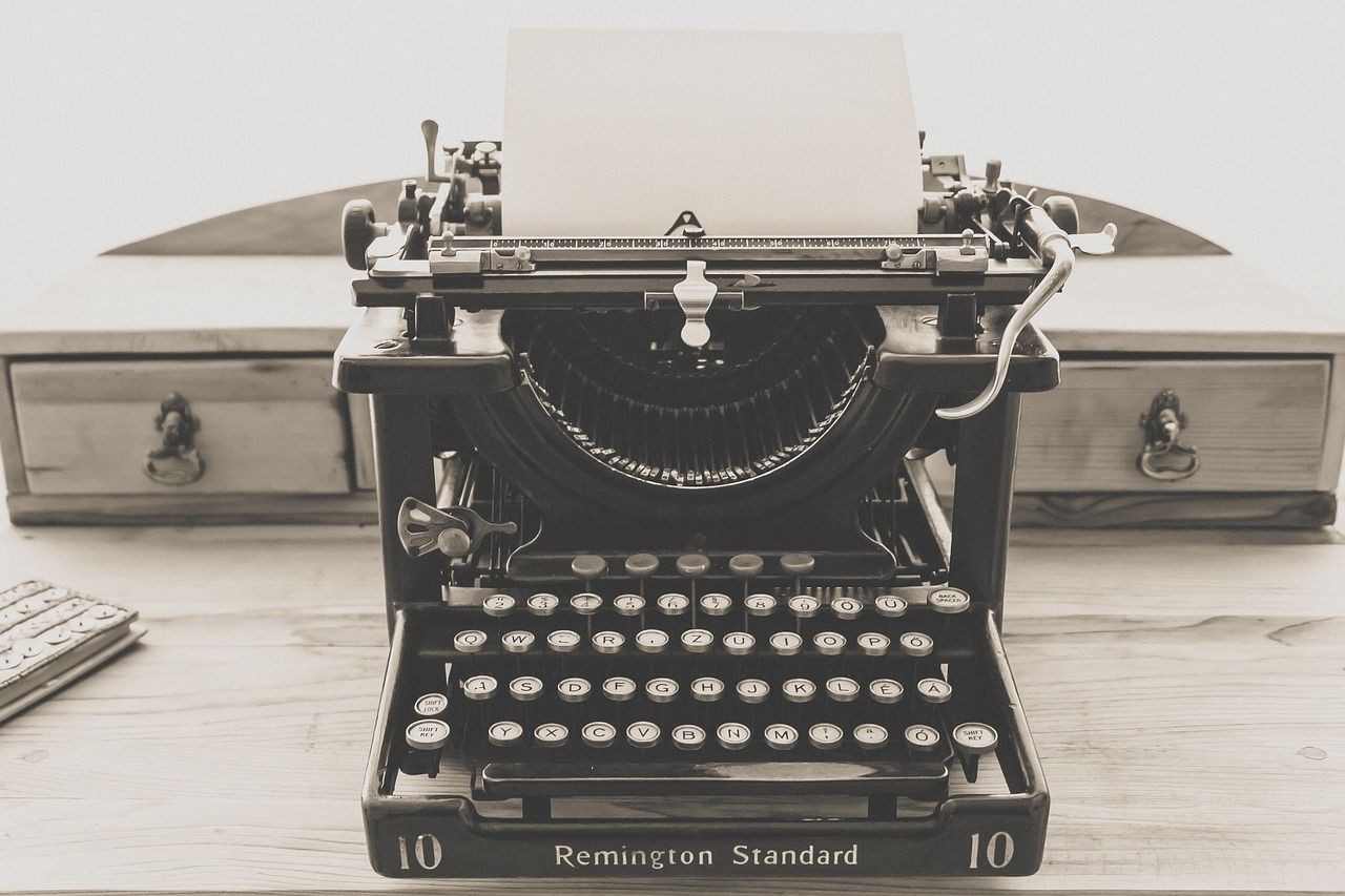 Siempre quise una máquina de escribir.