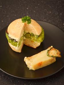 Burger printanier petits pois anais patisse patisserie vegan strasbourg