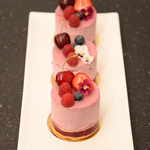 Mousse fruits rouges framboise individuel anais patisse patisserie vegan strasbourg