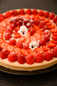 Tarte fruits rouges anais patisse patisserie vegan strasbourg