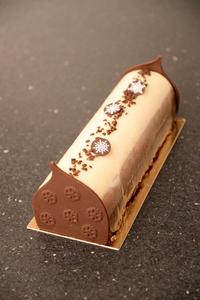 Buche trois chocolats anais patisse patisserie vegan strasbourg