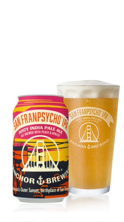 San Franpsycho IPA Bottle & Pint Glass - Anchor Brewing