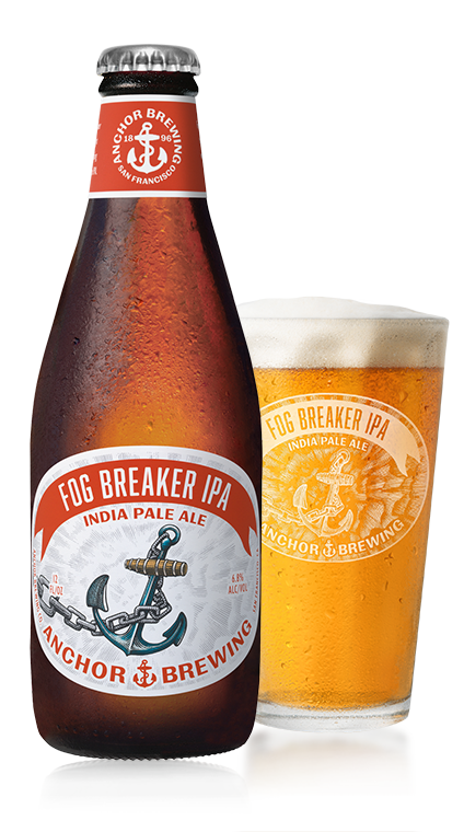 Fog Breaker IPA Bottle & Pint Glass - Anchor Brewing