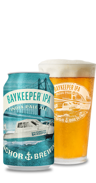 Baykeeper IPA bottle and pint glass