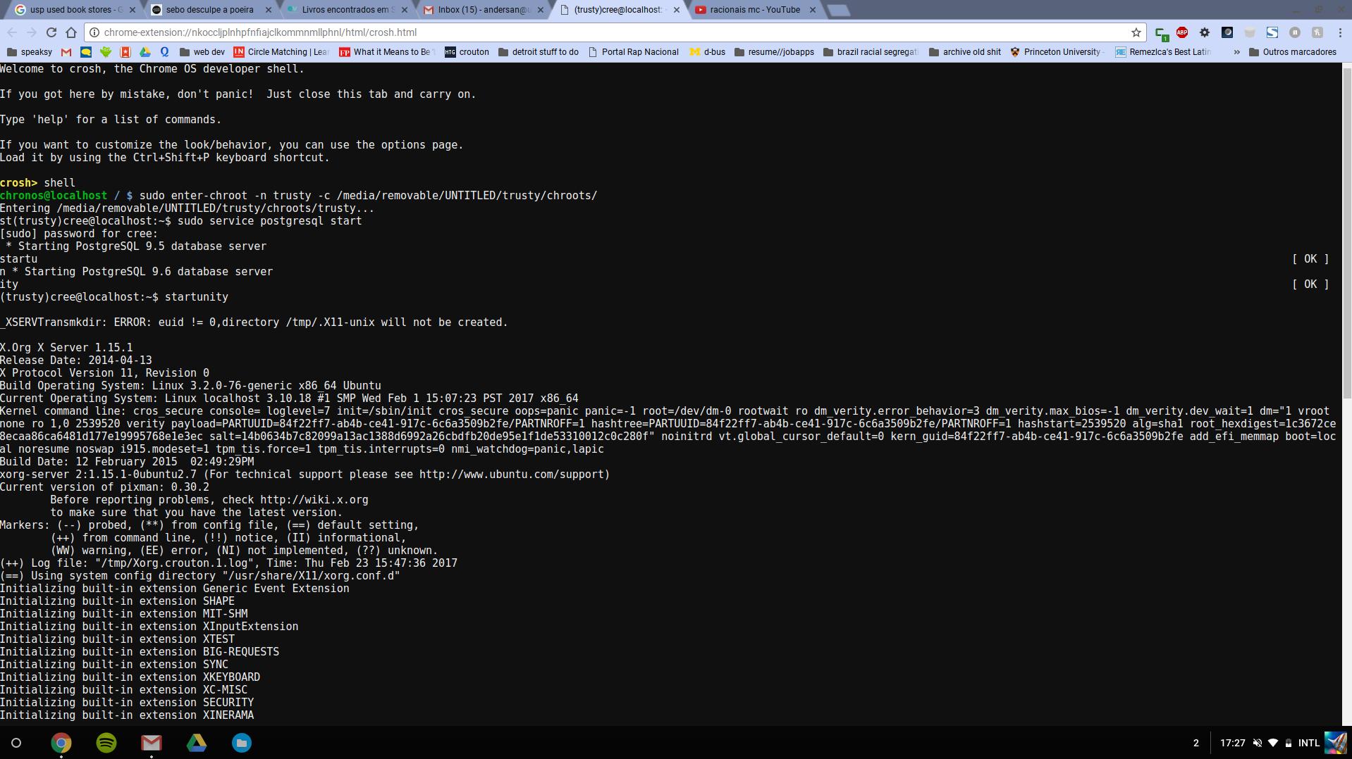 chrome OS Command Line Interface