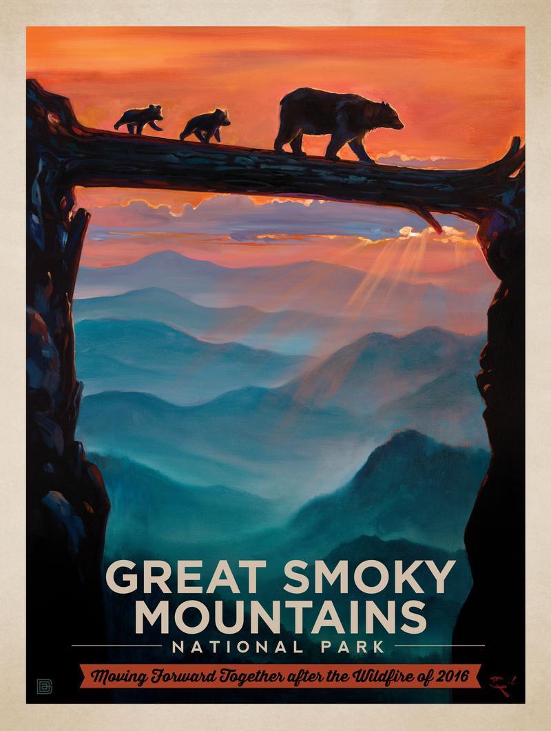 2016 Great Smokies Wildfire Relief Print 1