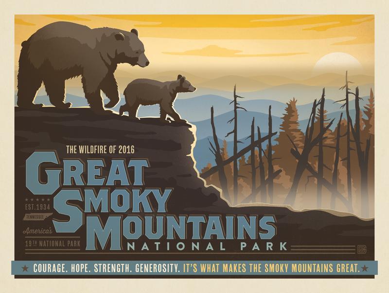 2016 Great Smokies Wildfire Relief Print 2