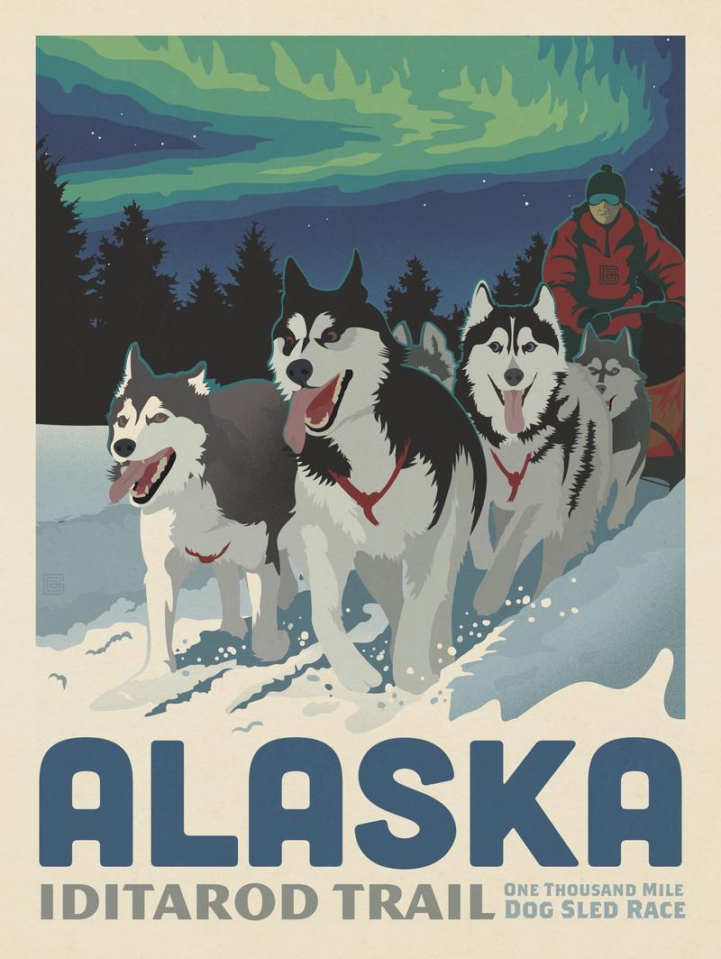 Alaska: Iditarod Trail Dog Sledding