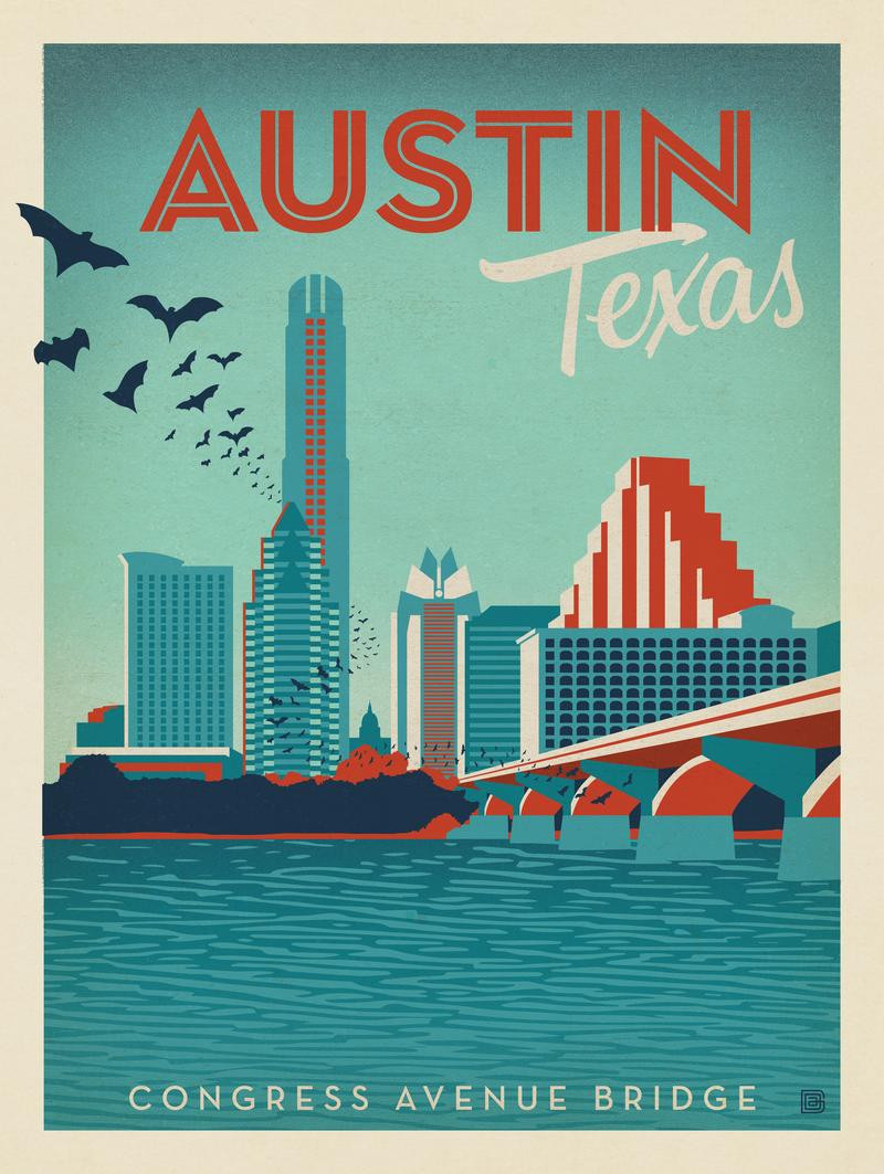 Austin, TX Congress Ave. Bridge