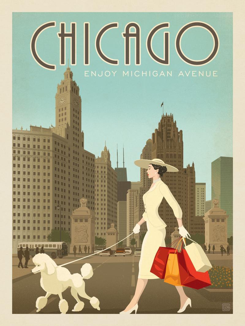 Chicago: Michigan Ave. Shopper