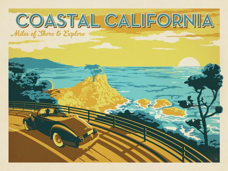 Coastal California: Horizontal Print