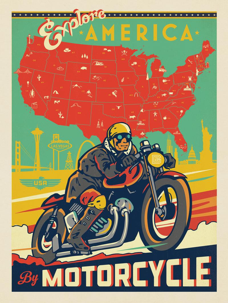 Explore America by Motorcycle